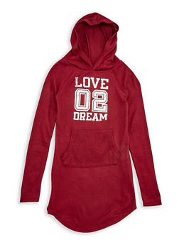 Girls 7-16 Graphic Hooded Sweatshirt Dress - 3615038340016
