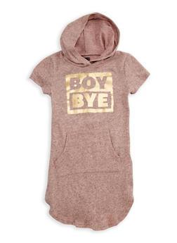 Girls 7-16 Boy Bye Graphic Hooded Dress - 3615038340020