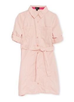 Girls 7-16 Shirt Dress with Belt - 3615051060002
