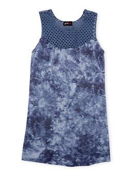 Girls 7-16 Sleeveless Tie Dye Dress with Crochet Yoke - 3615051060004