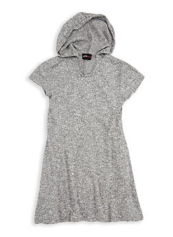 Girls 7-16 Hooded Rib Knit Shift Dress - 3615051060008