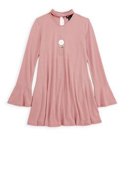 Girls 7-16 Rib Knit Choker T Shirt Dress - 3615051060011