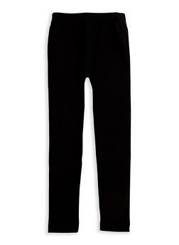Girls 7-16 Solid Basic Leggings - 3619023130004