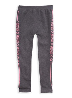 Girls 7-16 Star Graphic Leggings - 3619054730002