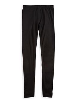 Girls 7-16 Solid Soft Knit Leggings - 3619060580014