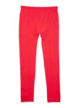 Girls 7-16 Solid Fleece Leggings - 3619061950033