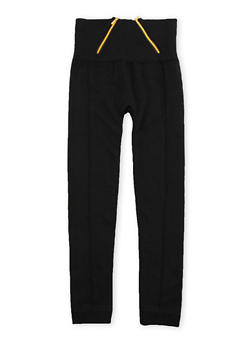 Girls 7-16 High Waisted Leggings with Zipper Accents - 3619069020015