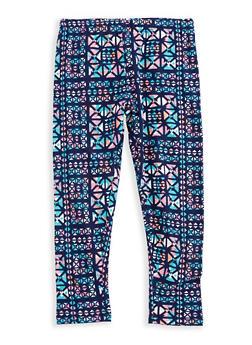 Girls 4-6x Printed Leggings - 3620061950025