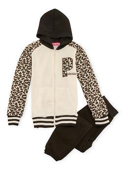 Girls 4-6x Hoodie and Sweatpants Set - 3622048370006