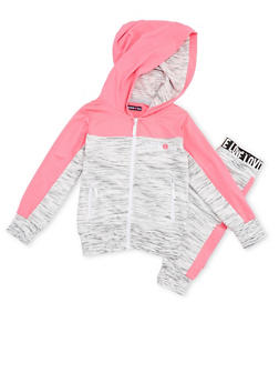 Girls 4-6x Limited Too Love Graphic Zip Up Hoodie with Joggers - 3622060990001
