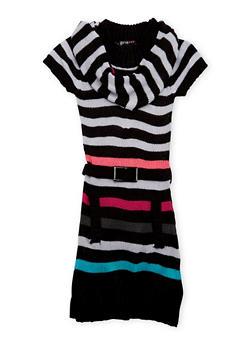 Girls 4-6x Sweater Dress with Scarf - 3624038340014
