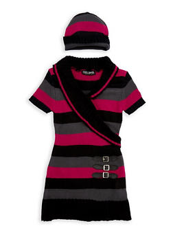 Girls 4-6x Faux Wrap Sweater Dress - 3624038340039
