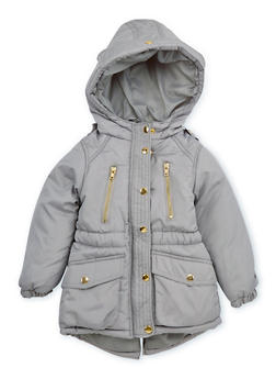 Girls 7-16 Cinched Waist Puffer Jacket - 3627038340021