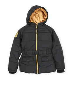 Girls 7-16 Pelle Pelle Puffer Coat with Metallic Embroidery - 3627068320003