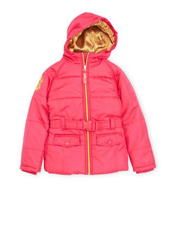 Girls 7-16 Pelle Pelle Puffer Coat with Metallic Embroidery - 3627068320008