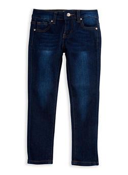 Girls 4-6x Classic Skinny Jeans - DARK WASH - 3628056720014