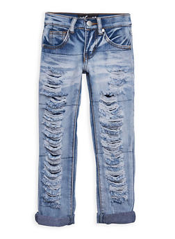 Girls 4-6x Frayed Acid Wash Jeans - 3628063400001