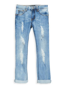 Girls 4-6X Light Wash Distressed Skinny Jeans - 3628063400021