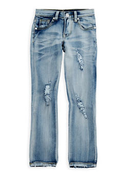 Girls 4-6x Ripped Acid Wash Jeans - 3628063400023