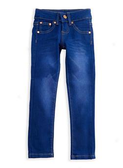 Girls 4-6x Whisker Wash Denim Skinny Jeans - 3628073420001