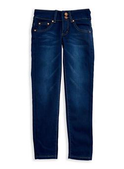 Girls 4-6x Whisker Wash Skinny Jeans - 3628073420002