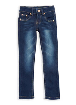 Girls 4-6x Basic Skinny Jeans with Contrast Stitching - 3628073420005
