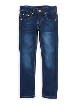 Girls 4-6x Dark Wash Denim Skinny Jeans - 3628073420006