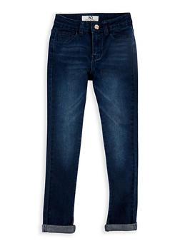 Girls 7-16 Whisker Wash Skinny Jeans - 3629056720007