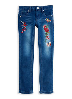 Girls 7-16 Embroidered Skinny Jeans - 3629063370001