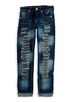 Girls 7-16 Destroyed Dark Wash Jeans - 3629063400017