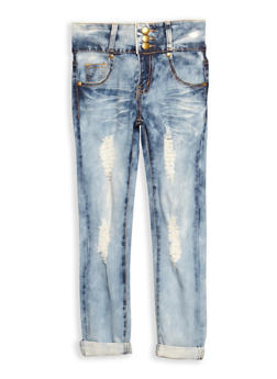 Girls 7-16 3 Button Skinny Jeans - 3629063400021
