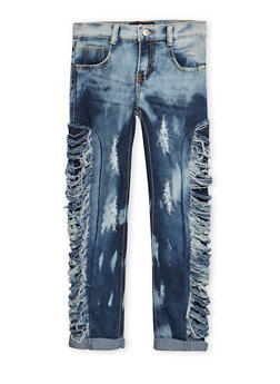 Girls 7-16 Slashed Sides Jeans - 3629063400027