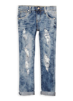 Girls 7-16 Medium Whisker Wash Jeans - 3629063400028