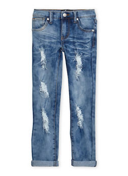 Girls 7-16 Frayed Jeans - 3629063400029