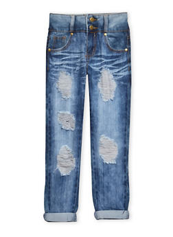 Girls 7-16 2 Buttoned Skinny Jeans - 3629063400031