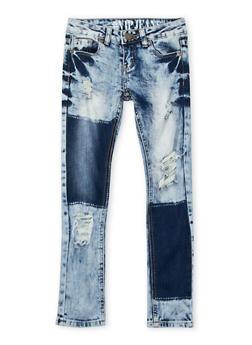 Girls 8-16 Distressed VIP Jeans - 3629065300006