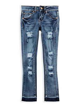 Girls 7-16 VIP Raw Cut Skinny Jeans - 3629065300027