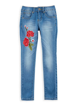 Girls 7-16 VIP Embroidered Skinny Jeans - 3629065300041