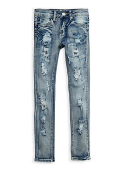 Girls 7-16 VIP Ripped Skinny Jeans - 3629065300051
