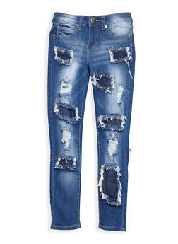 Girls 7-16 VIP Patch and Repair Jeans - 3629065300060