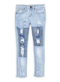 Girls 7-16 VIP Patch and Repair Jeans - 3629065300063