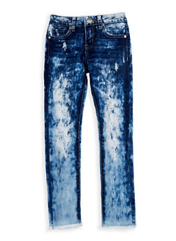 Girls 7-16 VIP Acid Wash Skinny Jeans - 3629065300078
