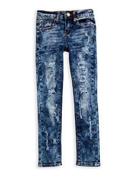 Girls 7-16 VIP Dark Wash Skinny Jeans - 3629065300081