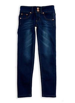 Girls 7-16 Whisker Wash Skinny Jeans - 3629073420002
