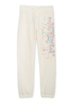 Girls 7-16 Joggers with Splatter Graphic - 3631061950006