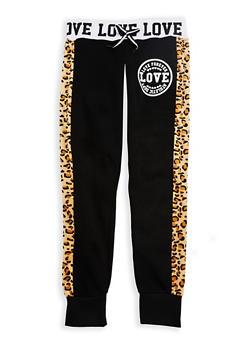 Girls 7-16 Love Forever Jogger Pants - 3631063400004