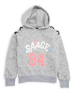 Girls 7-16 Savage Graphic Hooded Sweatshirt - 3631063400040
