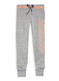 Girls 7-16 Flawless Graphic Fleece Lined Sweatpants - 3631063400041