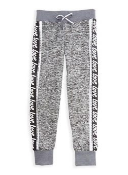 Girls 7-16 Marled Joggers with Faux Drawstring Waist - 3631063400049