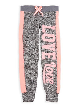 Girls 7-16 Space Dye Love Graphic Joggers - 3631063400063